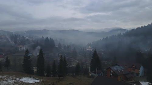 Carpathian Villages In Winter