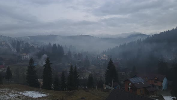 Carpathian Villages In Winter