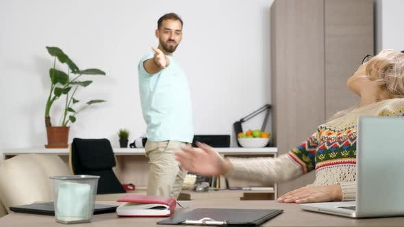 Thumbnail for Girlfriend and Boyfriend Fight Because the Man Is Making a Lot of Noise