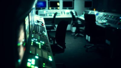 Equipment of Empty Central Control Room