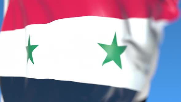 Thumbnail for Waving National Flag of Syria