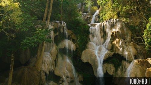 Majestic Waterfall in Southeast Asia