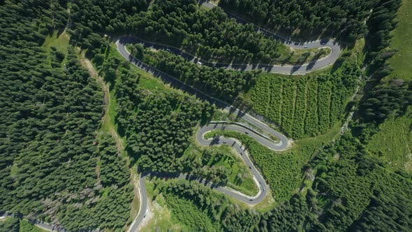 Thumbnail for Aerial View Of Famous Romanian Mountain Road Transalpina