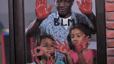 Family Supporting Black Lives Matter Movement