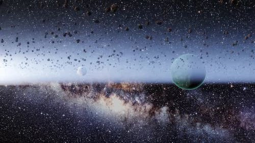 Asteroids space milky galaxy star earth