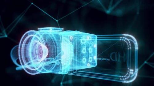 movie camera hologram Close up Hd