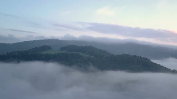 Thumbnail for Morning Flight above Foggy Clouds