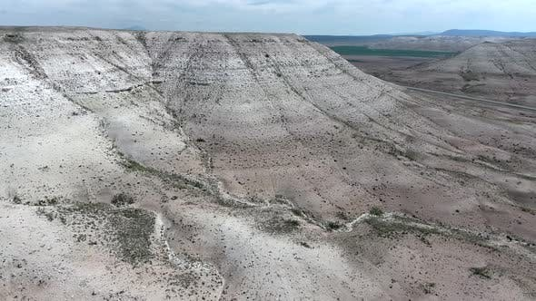 Thumbnail for Limestone Mesa Hill Topography on Plain in Arid Barren Geography