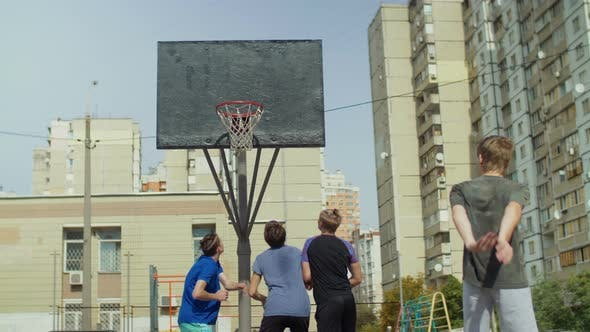 Thumbnail for Streetball Players Figthing for Rebound on Court