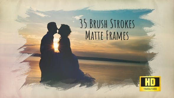 Thumbnail for Brush Strokes – 35 HD Matte Frames