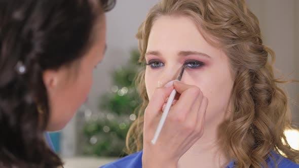Thumbnail for Work of a Makeup Artist. Eye Makeup