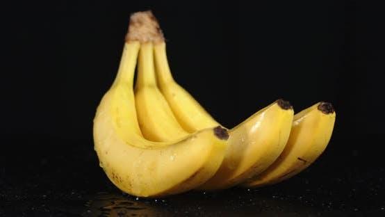 Thumbnail for Ripe Yellow Bananas Slowly Rotate.