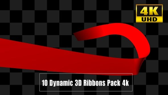 Thumbnail for 10 Dynamic  Ribbons Pack 4k