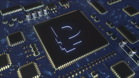 Thumbnail for Russian Rouble RUR Currency Symbol on a Chipset