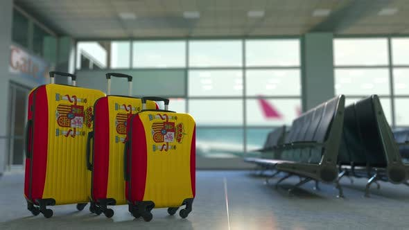 Thumbnail for Travel Suitcases Featuring Flag of Spain