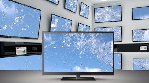Television flat screens on display
