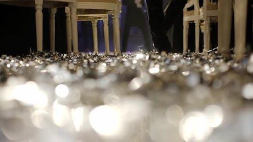 Brilliantly Confetti On The Floor.