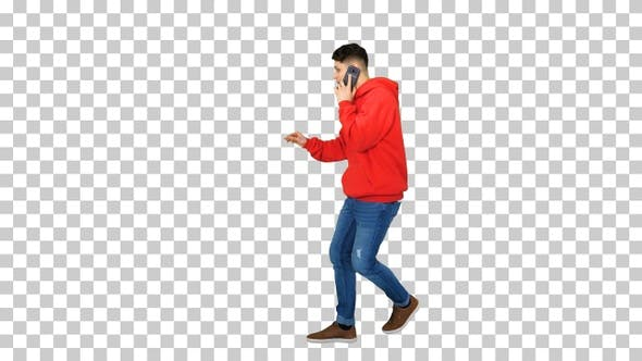 Thumbnail for Casual hip-hop man walking and talking on the phone and dancing
