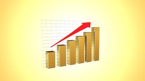 Rising Bar Chart Golden
