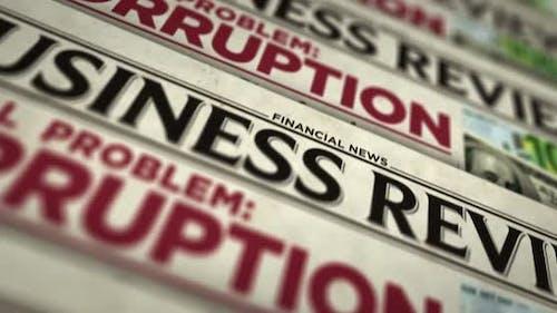 Korruption in der globalen Druckmaschine für problematische Zeitungen