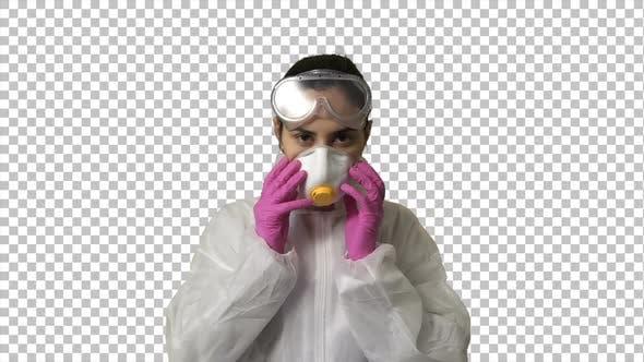 Medic in Coronavirus Protective Suite
