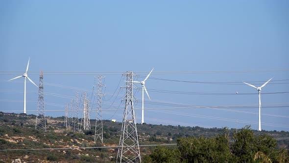Thumbnail for Windturbine und die elektrische Pole 4
