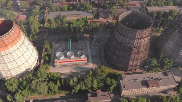 Plant Cooling Tower Aerial