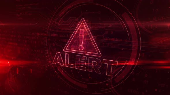 Alert symbol abstract animation