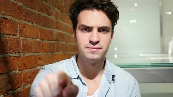Thumbnail for Serious Man Pointing at Camera with finger