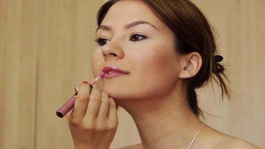 Thumbnail for Beautiful Girl Makeup Lipstick