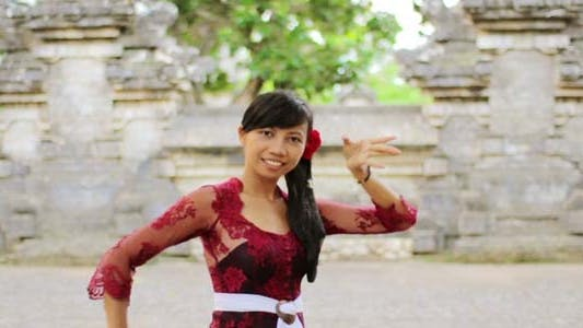 Thumbnail for Girl Saluting With Both Hands In Bali 4