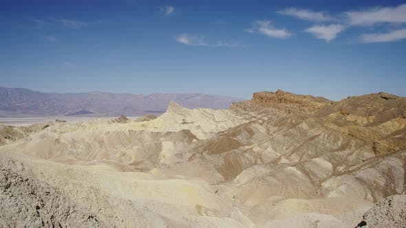 Erosional landscape in Death Valley
