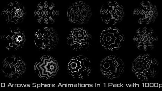 Thumbnail for Arrows Sphere Elements Pack 01