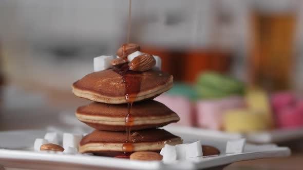 Beautiful Delicious Healthy Breakfast of Pancake