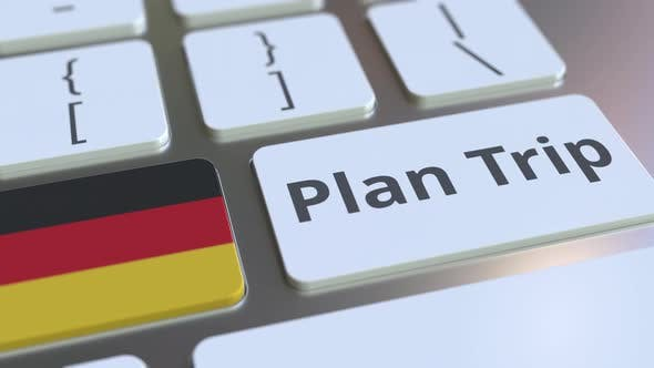 Thumbnail for PLAN TRIP Text and Flag of Gemany on the Keyboard