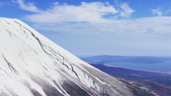 Thumbnail for Passing By Mount Fuji Aerial View
