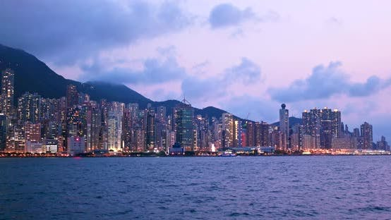 Thumbnail for Hong Kong landmark at night