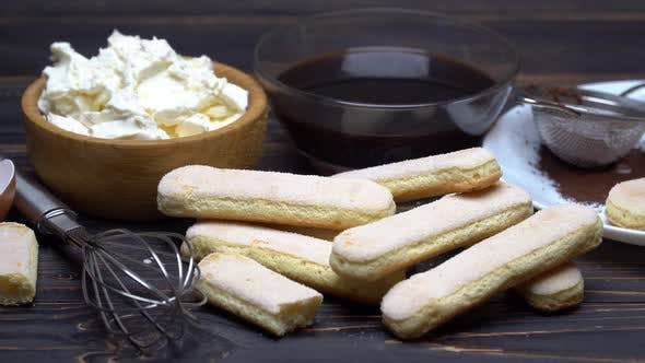 Thumbnail for Ingredients for Making Traditional Italian Dessert Tiramisu