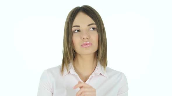 Thumbnail for Beautiful Woman Thinking New Idea, Brainstorming
