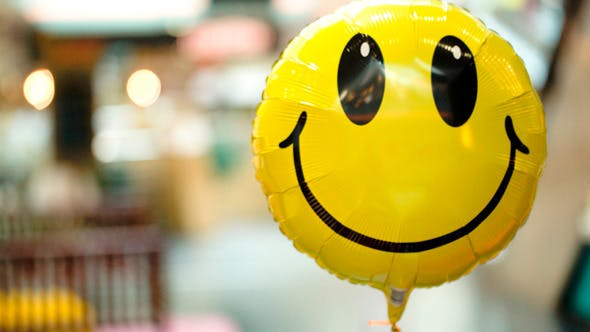 Thumbnail for Smiling Balloon Floating In The Air