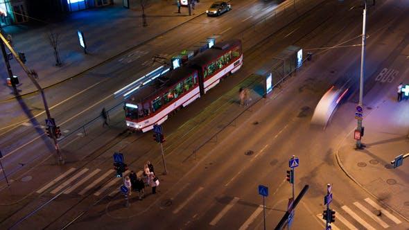 Thumbnail for Timelapse Of Night City Traffic In Tallinn