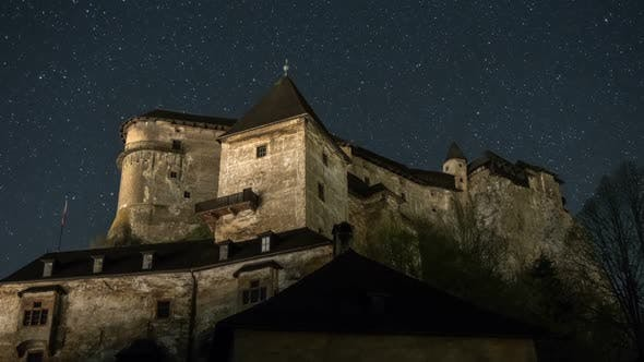 Thumbnail for Stars in Night Sky over Historic Castle