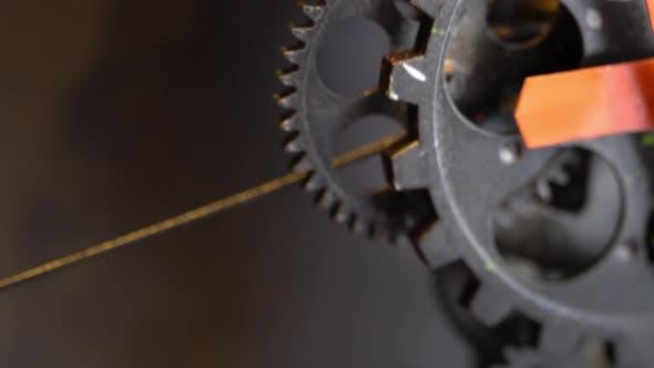 Thumbnail for Retro Rusty Mechanic Clock Gears 15