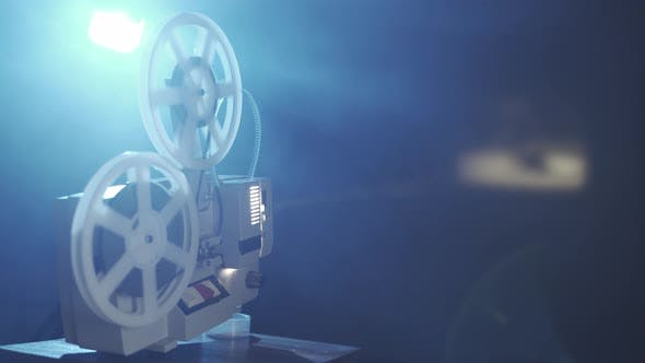 Thumbnail for Retro Film Projector With 8Mm Coil Reels