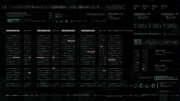 Thumbnail for Futuristic Source Code Digital Data Telemetry Display