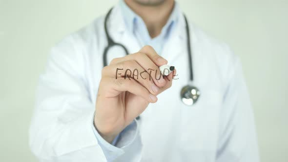 Thumbnail for Fracture, Doctor Writing on Transparent Screen