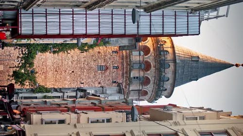 Galata Tower Seen Between Buildings