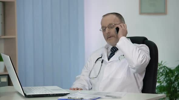 Thumbnail for Doctor Inviting Patient to Hospital, Talking About Advantages of Private Clinic