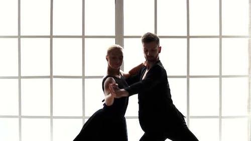 Beautiful Man and Woman Dancing Ballet