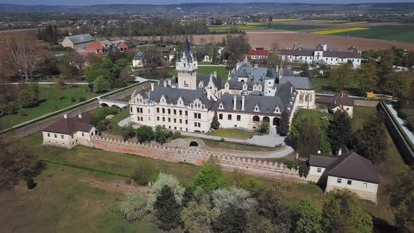 Aerial View of Grafenegg Castle, Austria